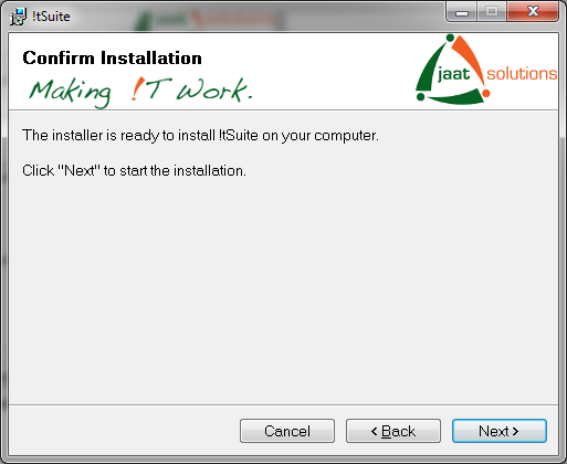 !tSuite installation confirmation