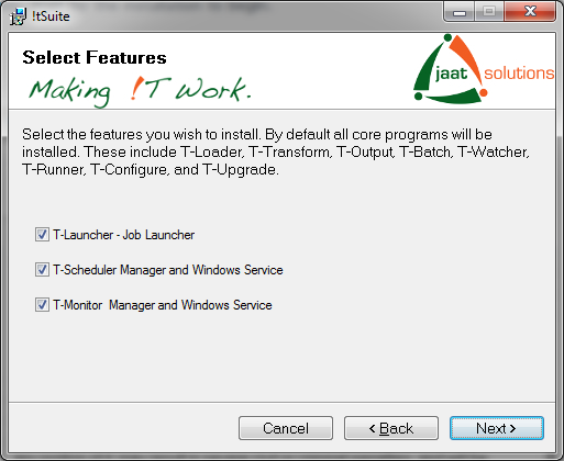 iTSuite install features
